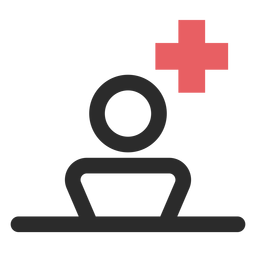 Patient colored stroke icon