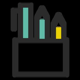 Bleistifthalter farbige Strich-Symbol