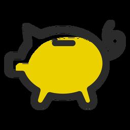 Caja de dinero de cerdo color trazo