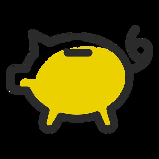 Schwein Sparbüchse farbiger Anschlag Transparent PNG
