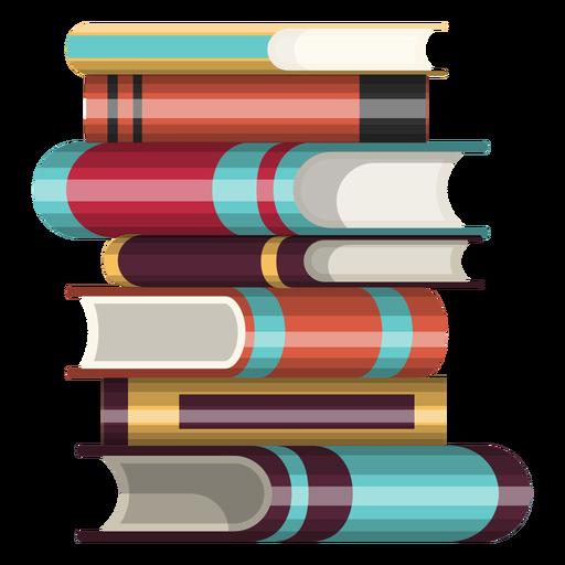 Pila de icono de libros