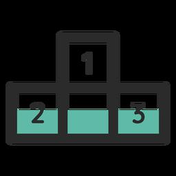 Podium farbiges Strich-Symbol