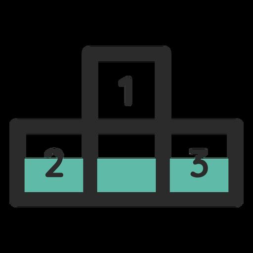 Icono de trazo de color podio Transparent PNG