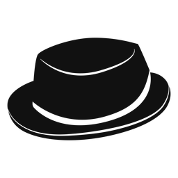 Pork pie hat flat icon
