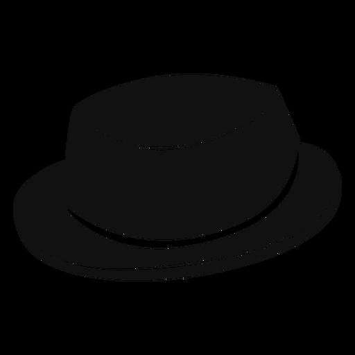Pork pie hat flat icon Transparent PNG