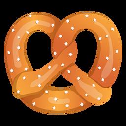 Ilustración de pretzel