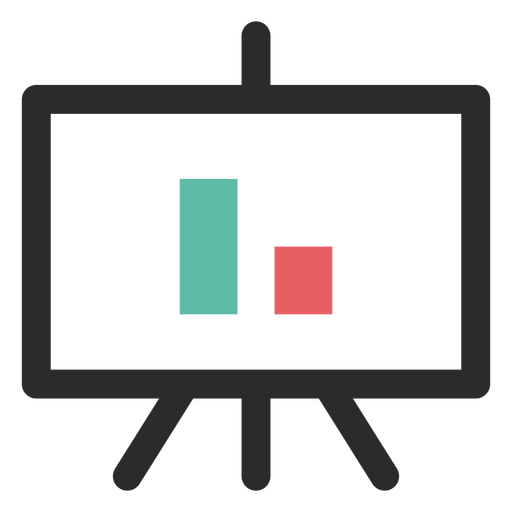 Projector screen graph icon Transparent PNG