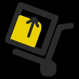 Empuje el carrito con el icono de la caja