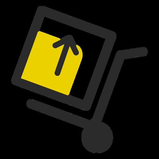 Empurre o carrinho com o ícone da caixa Transparent PNG