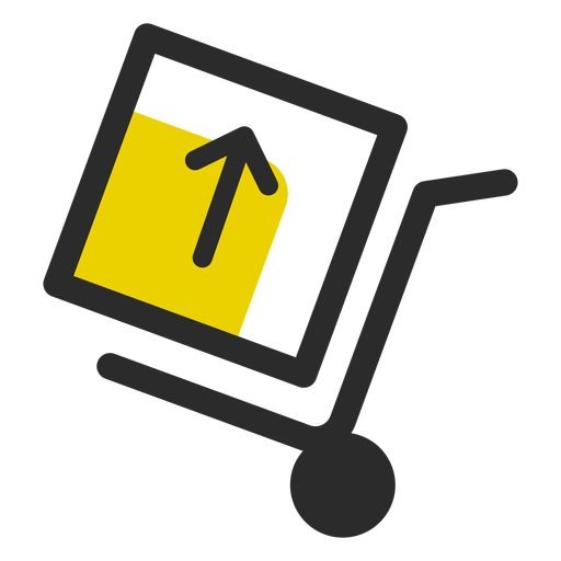 Push cart with box icon Transparent PNG