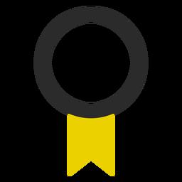 Ícone de traço colorido de fita de qualidade