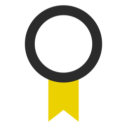 Quality ribbon colored stroke icon