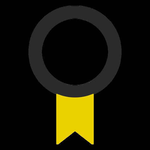 Quality ribbon colored stroke icon