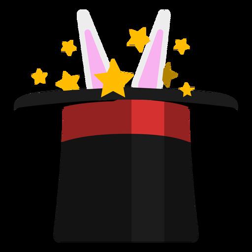 Conejo en el icono de sombrero de mago Transparent PNG