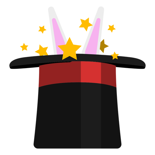 Rabbit in magician hat icon Transparent PNG