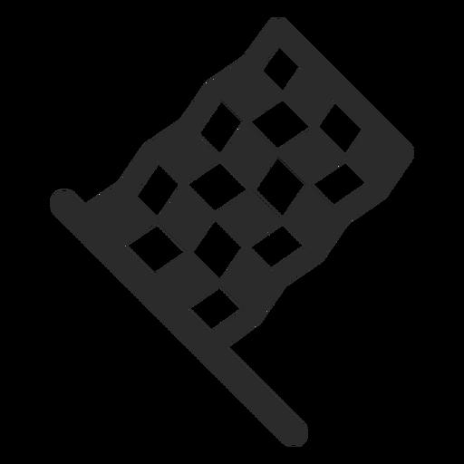 Ícone de traçado da bandeira de corrida Transparent PNG