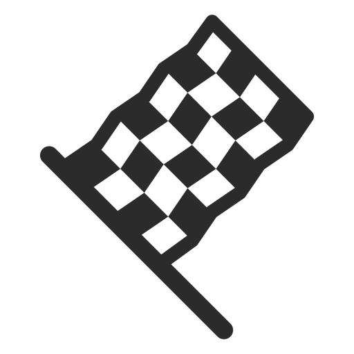 Racing flag stroke icon Transparent PNG