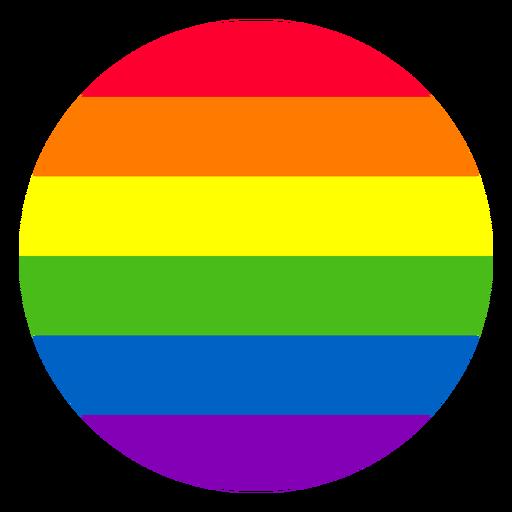 Elemento círculo del arco iris Transparent PNG