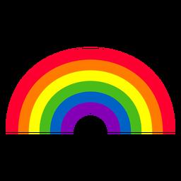 Elemento curva arcoiris