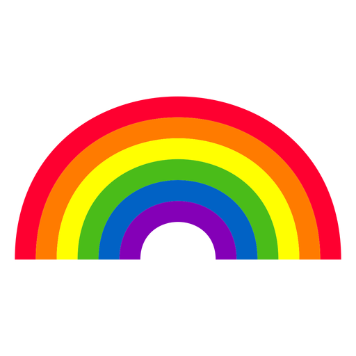 Rainbow curve element Transparent PNG