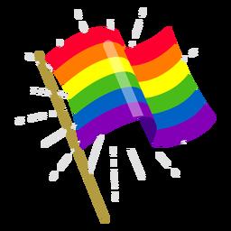 Elemento de la bandera del arco iris