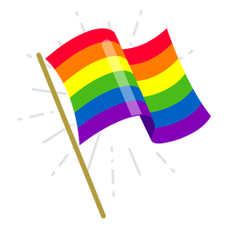 Rainbow flag element