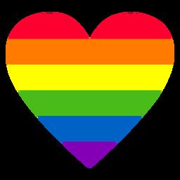 Elemento del corazón del arco iris