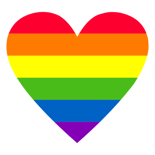 Rainbow heart element Transparent PNG