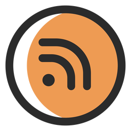 Rss colored stroke icon