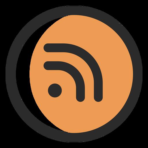 Icono de trazo de color Rss Transparent PNG