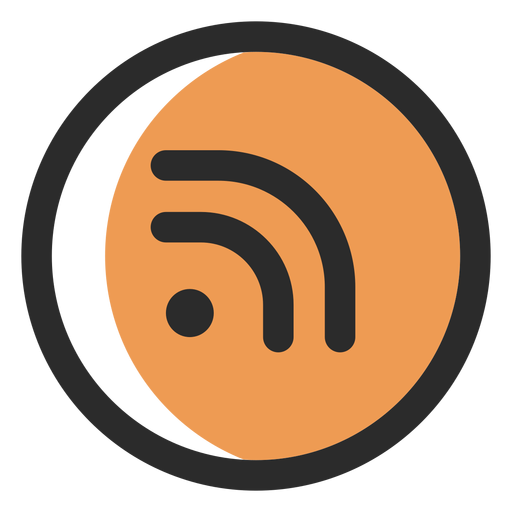 Rss colored stroke icon Transparent PNG