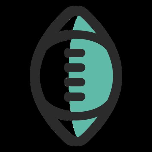 Ícone de traço colorido de bola de rugby Transparent PNG