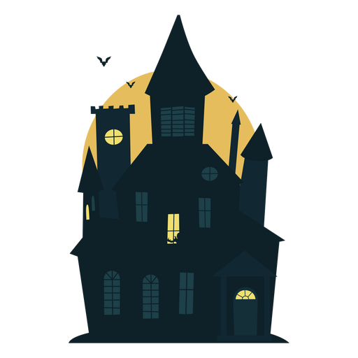 Scary halloween haunted house Transparent PNG