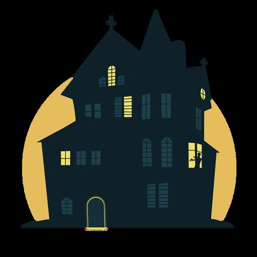 Casa de halloween de miedo Transparent PNG