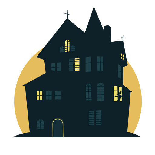 Scary halloween house Transparent PNG