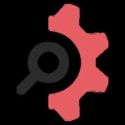 Configuración de búsqueda icono de trazo de color