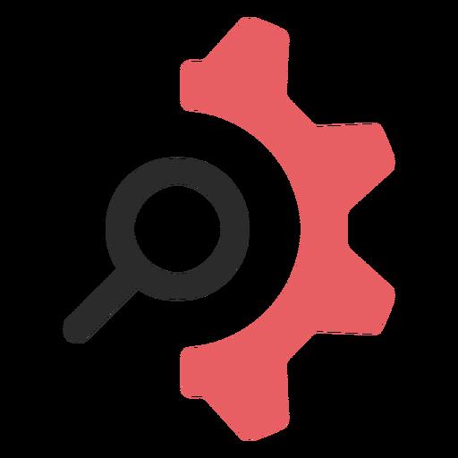Configuración de búsqueda icono de trazo de color Transparent PNG