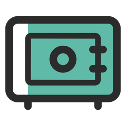 Security safe colored stroke icon