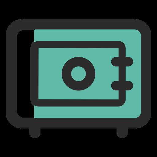 Icono de trazo de color seguro de seguridad Transparent PNG
