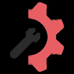 Ícone de traço colorido de configurações de SEO