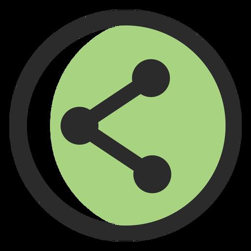Compartilhar ícone de traçado colorido Transparent PNG