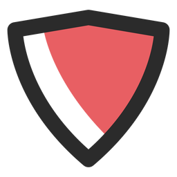 Ícone de traço colorido escudo