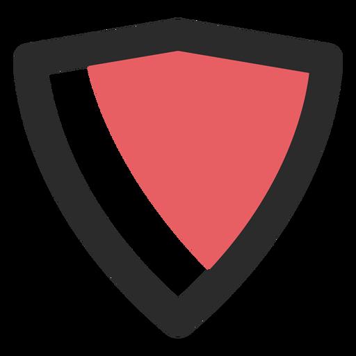 Ícone de traço colorido escudo Transparent PNG