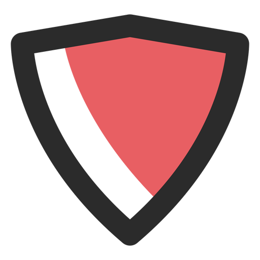 Shield colored stroke icon Transparent PNG