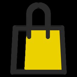 Bolso de compras coloreado icono de trazo