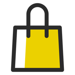 Einkaufstasche farbige Strich-Symbol