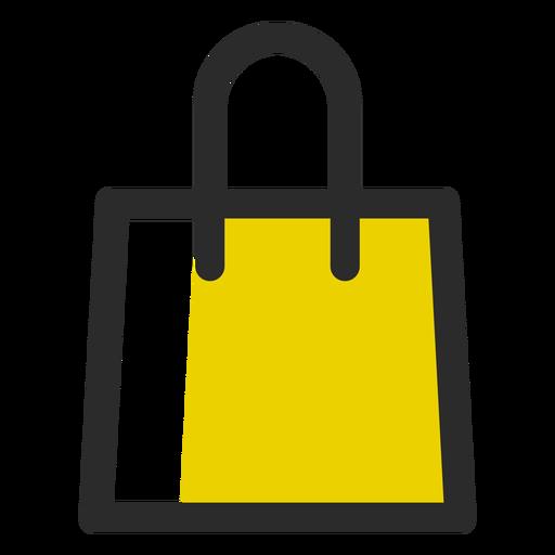 Saco de compras ícone de traço colorido Transparent PNG