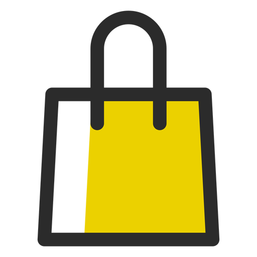 Shopping bag colored stroke icon Transparent PNG