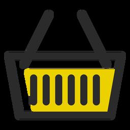 Cesta de la compra de color icono de trazo