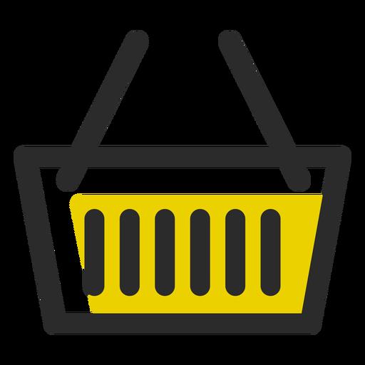 Icono de trazo de color de cesta de compras